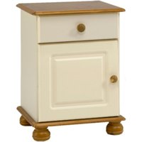 Richmond Bedside Table - Cream and Pine