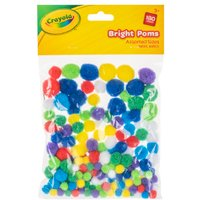 'Crayola Assorted Bright Poms - 180