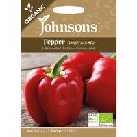 Pack of Organic Asti Red Sweet Pepper Seeds