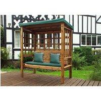Charles Taylor Bramham 3 Seater Arbour - Green - Redwood/Green