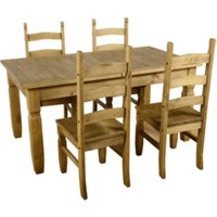 Corona Extending Dining Set with Four Chairs