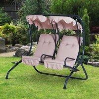 Garden 2 Seater Swing Chair  - Beige