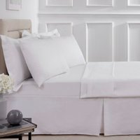 Polycotton Valance Sheet - White / King