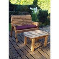 Charles Taylor Deluxe Wooden Bench Set  - Redwood/Burgundy
