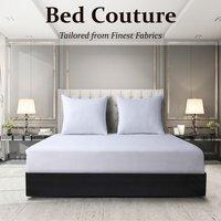 Velvet Flannel Fitted Bed Sheet King - White