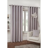 Pure Cotton Eyelet Curtains - Lilac / 168cm / 137cm