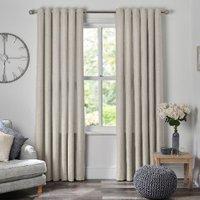 Chatsworth Eyelet Curtains - Natural / 168cm / 137cm