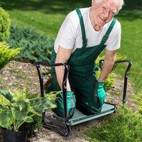 2In1 Folding Garden Kneeler Foam Chair Pad - Green