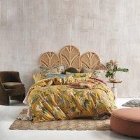 Modern Boudoir Floral Duvet Cover Set - Yellow / King