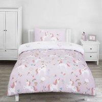 Glitter Pretty Unicorns Duvet Cover and Pillowcase Set