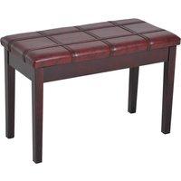 Piano Storage Bench - Wine Red