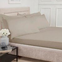 Polycotton Fitted Sheet - Taupe / Single