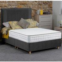 Jonas and James Hadleigh Divan Bed Set With Mattress - Steel / Single / 4