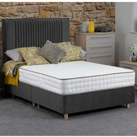 Jonas and James Hadleigh Divan Bed Set With Mattress - Steel / Single / 2