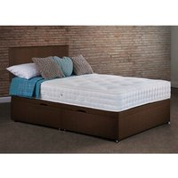 Lynton Side Lift Ottoman Bed With Mattress - Chocolate / Single