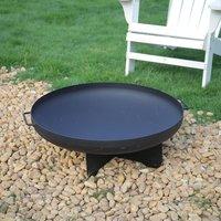 Outdoor Corten Steel Fire Pits Bowl Shape Burner Bonfire Heater - Black / 35cm / 70cm