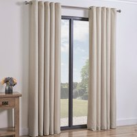 Taylor Eyelet Curtains   - Natural / 137cm / 168cm