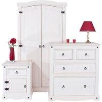 Corona White Wash Bedroom Set