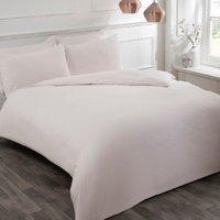 Flannelette Duvet Cover and Pillowcase Set - Blush / Single
