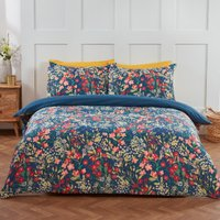 Helmsley Floral Printed Duvet Cover and Pillowcase Set - Double