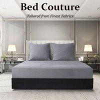 Velvet Flannel Fitted Bed Sheet King - Warm Grey