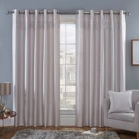 Freya Blockout Eyelet Curtains - Lilac / 168cm