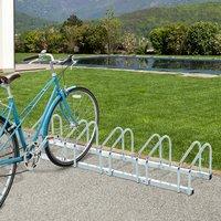 Bike Parking Rack - Silver / 130cm