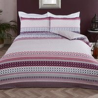 Indira Tribal Duvet Cover and Pillowcase Set - Double