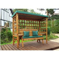Charles Taylor Wentworth 3 Seater Arbour - Green - Redwood/Green
