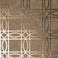 Geometric Kiss Foil Wallpaper - Bronze & Black