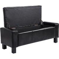 Modern Storage Bench Ottoman  - Black