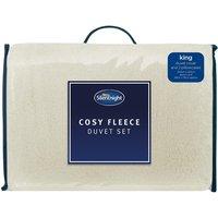 Silentnight Cosy Fleece Duvet Cover and Pillowcase Set - Double