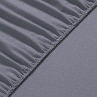 140x200x30 cm Flannel Fleece Fitted Bed Sheet - Winter Grey