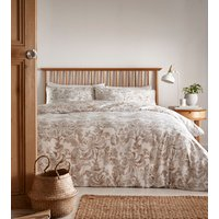Opus Duvet Cover and Pillowcase Set - Ivory/Gold / Double