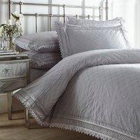 Balmoral Duvet Cover and Pillowcase Set - Grey / Super King