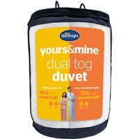 Silentnight Yours and Mine Duvet 13.5/10.5Tog - Double