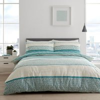 Isana Duvet Cover and Pillowcase Set - Teal / Double