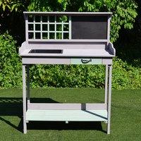 Outdoor Wooden Potting Table Bench - Dark Grey