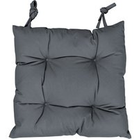 Quilted Garden Chair Pad - Grey