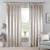 Belvedere Velvet Tape Curtains - Pearl / 137cm / 168cm