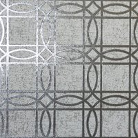 Geometric Kiss Foil Wallpaper - Grey & Charcoal