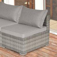 Outdoor Rattan Single Middle Sofa - Grey
