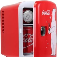 Coca-Cola Polar Bear Portable 6 Can Thermoelectric Mini Fridge - Red