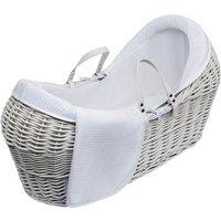 White Waffle White Pod Moses Basket