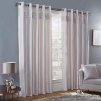 Freya Blockout Eyelet Curtains - Mink / 229cm