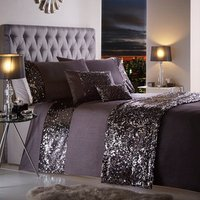 Dazzle Duvet Cover and Pillowcase Set - Charcoal / Double