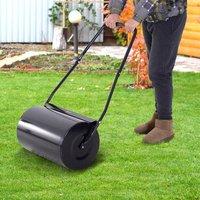 Steel Push 38L Garden Lawn Roller - Black