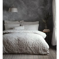 Oak Tree Duvet Cover and Pillowcase Set - Pale Stone / Double