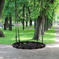 24 Inch Kids Hanging Tree Swing  - Black