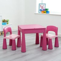 Kids 5 in 1 Activity Table and 2 Chair Set - Pink